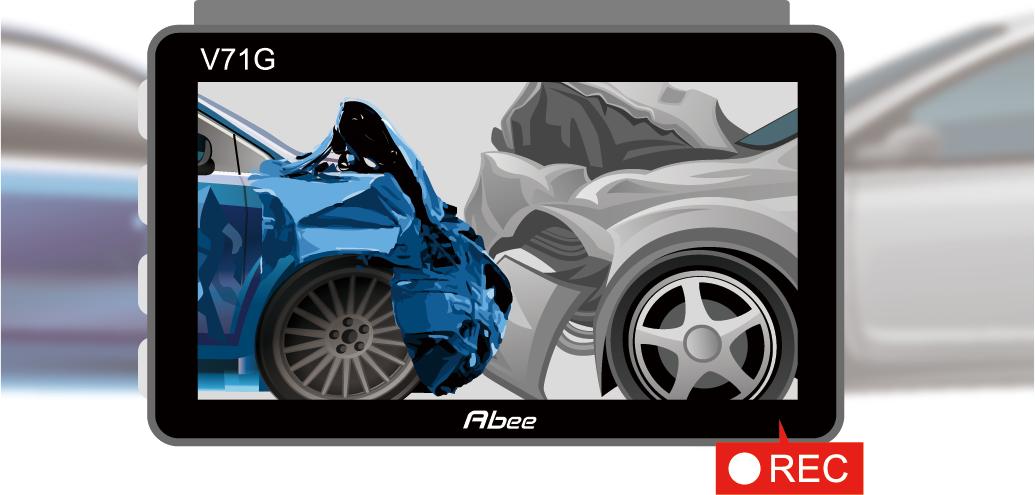 內建G-Sensor,停車碰撞監控3秒內啟動